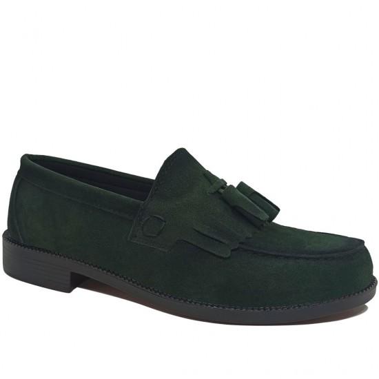 Modamela E432 Yeşil Süet Corcik Erkek Ayakkabı