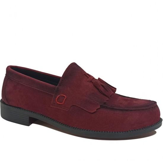 Modamela E433 Bordo Süet Corcik Erkek Ayakkabı