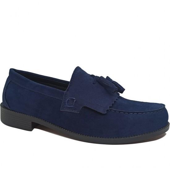 Modamela E434 Lacivert Süet Corcik Erkek Ayakkabı