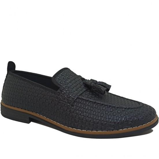 Modamela E435 Siyah Deri Günlük Erkek Ayakkabı