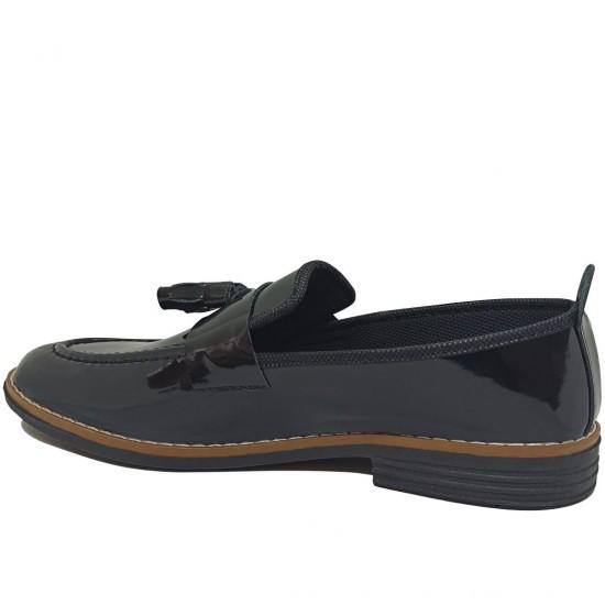 Modamela E438 Siyah Rugan Erkek Günlük Ayakkabı