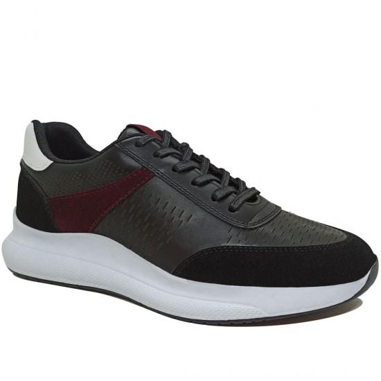 Modamela E444 Siyah Deri Erkek Spor Ayakkabı