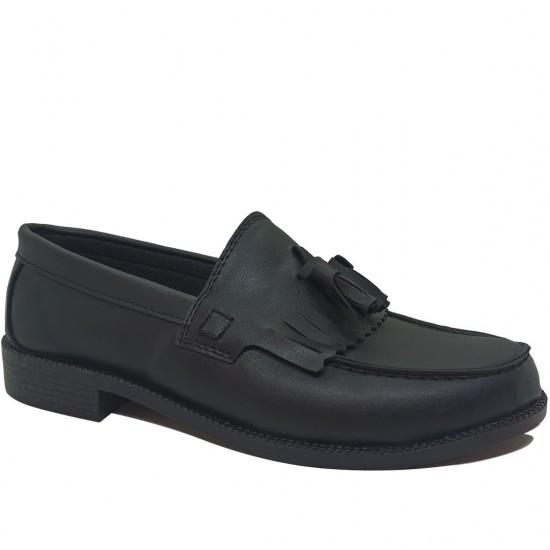 Modamela E446 Siyah Deri Corcik Erkek Ayakkabı