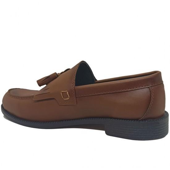 Modamela E448 Taba Rengi Deri Corcik Erkek Ayakkabı