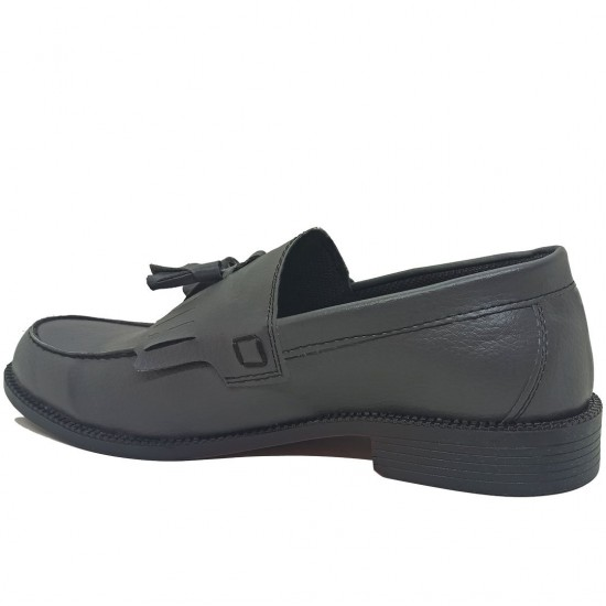 Modamela E450 Gri Deri Corcik Erkek Ayakkabı