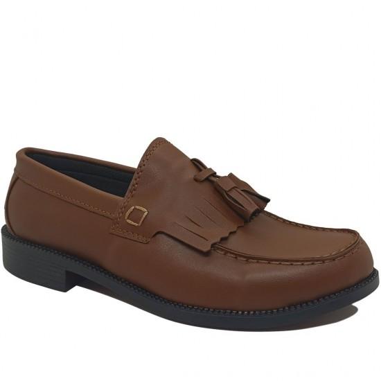 Modamela E451 Taba Rengi Deri Corcik Erkek Ayakkabı