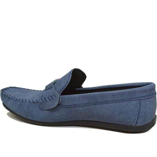 Modamela E452 Mavi Tokalı Erkek Ayakkabı