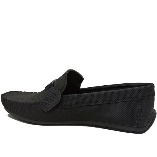 Modamela E455 Siyah Deri Tokalı Erkek Ayakkabı