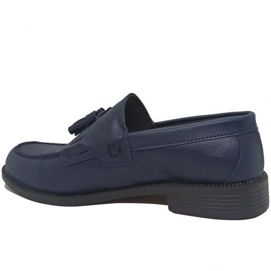 Modamela E457 Lacivert Deri Corcik Erkek Ayakkabı