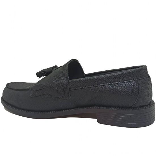 Modamela E458 Siyah Deri Corcik Erkek Ayakkabı