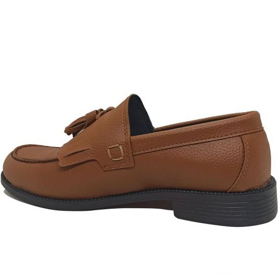 Modamela E459 Taba Rengi Deri Corcik Erkek Ayakkabı