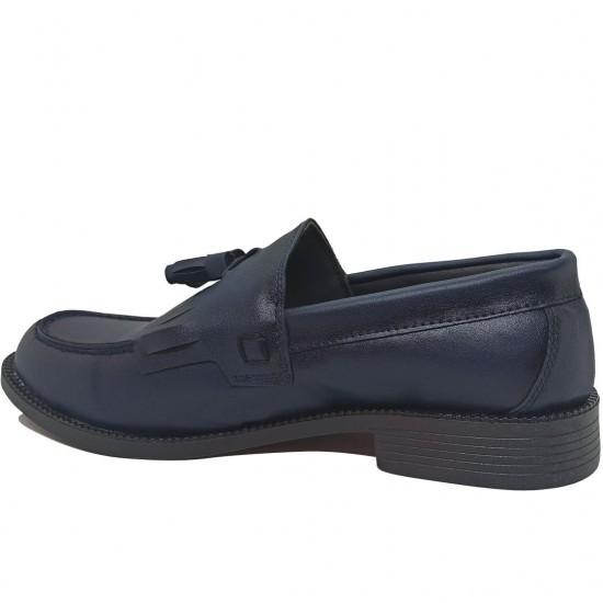 Modamela E460 Lacivert Deri Corcik Erkek Ayakkabı