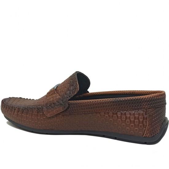 Modamela E461 Kahverengi Deri Tokalı Erkek Ayakkabı