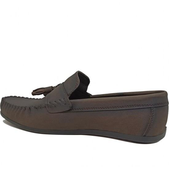 Modamela E464 Kahverengi Deri Erkek Ayakkabı