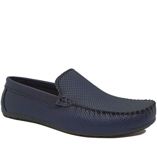 Modamela E466 Lacivert Deri Erkek Ayakkabı