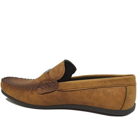 Modamela E469 Taba Hardal Deri Tokalı Erkek Ayakkabı