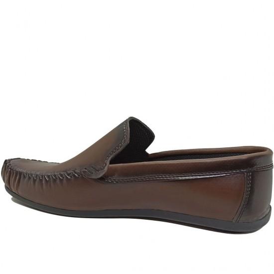 Modamela E471 Kahverengi Deri Erkek Ayakkabı