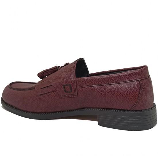 Modamela E473 Bordo Deri Corcik Erkek Ayakkabı