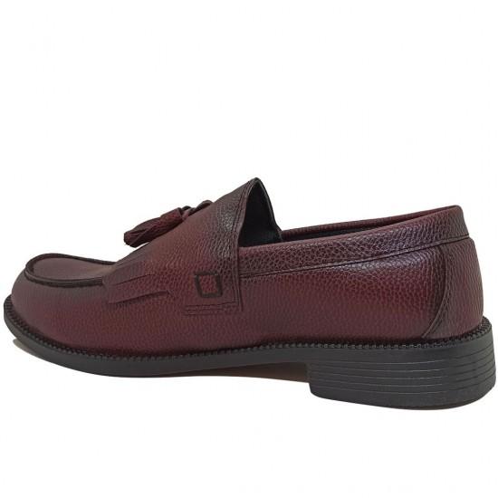 Modamela E474 Bordo Deri Corcik Erkek Ayakkabı