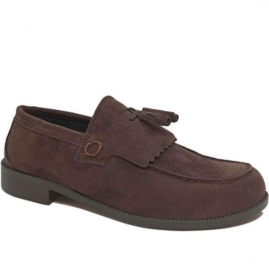 Modamela E475 Kahverengi Süet Corcik Erkek Ayakkabı