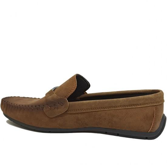 Modamela E493 Taba Rengi Nubuk Tokalı Erkek Ayakkabı