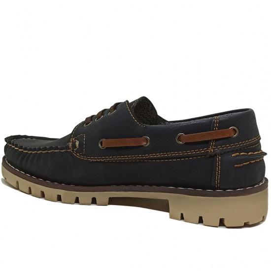 Modamela K108 Koyu Lacivert Nubuk Kadın Ayakkabı