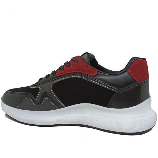 Modamela K110 Siyah Bağcıklı Kadın Spor Ayakkabı