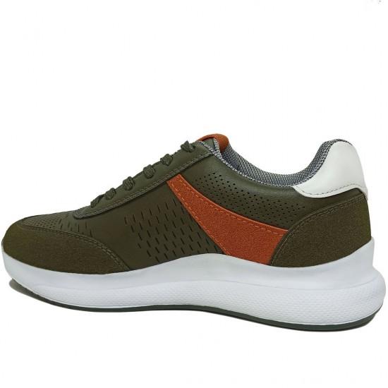 Modamela K111 Yeşil Deri Kadın Spor Ayakkabı