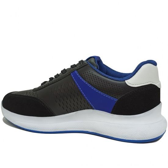 Modamela K112 Siyah Deri Kadın Spor Ayakkabı