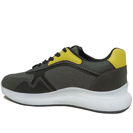 Modamela K113 Füme Bağcıklı Kadın Spor Ayakkabı