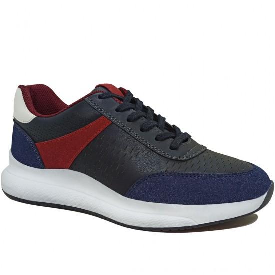 Modamela K114 Lacivert Deri Kadın Spor Ayakkabı