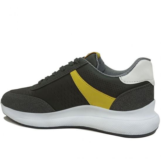 Modamela K115 Füme Deri Kadın Spor Ayakkabı
