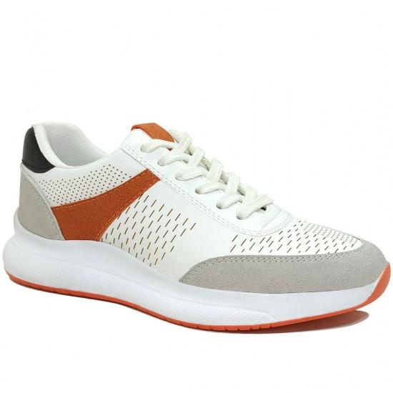Modamela K116 Beyaz Deri Kadın Spor Ayakkabı
