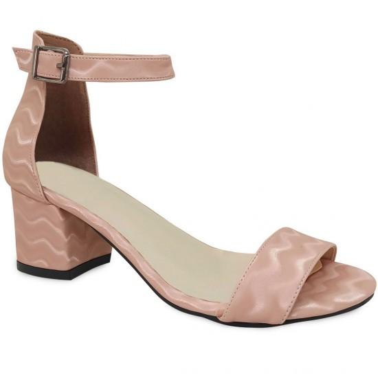 Modamela K133 Pembe Deri Topuklu Kadın Ayakkabı