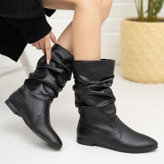 Modamela K138 Siyah Cilt Kadın Çizme