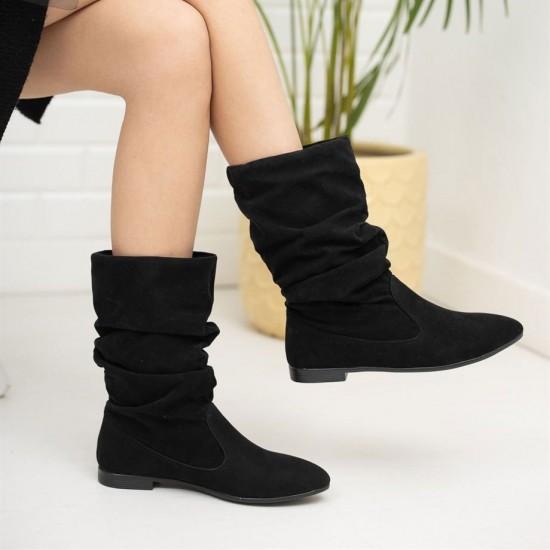 Modamela K142 Siyah Süet Kadın Çizme